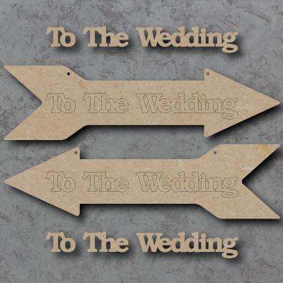 Wedding Arrow mdf Shapes