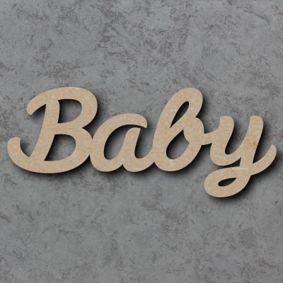 Baby Script Font Wooden Words