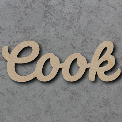 Cook Script Font Wooden Words