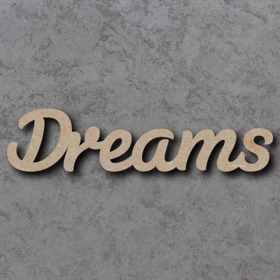 Dreams Script Font Wooden Words
