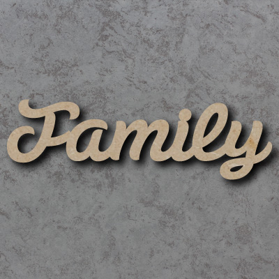 Family Script Font Wooden Words