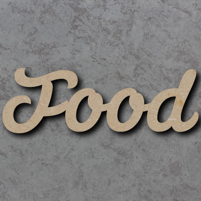Food Script Font Wooden Words