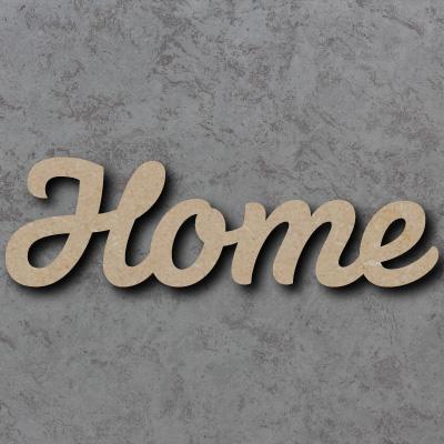 Home Script Font Wooden Words