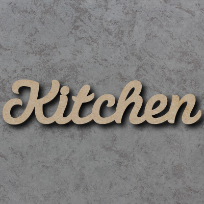 Kitchen Script Font Wooden Words