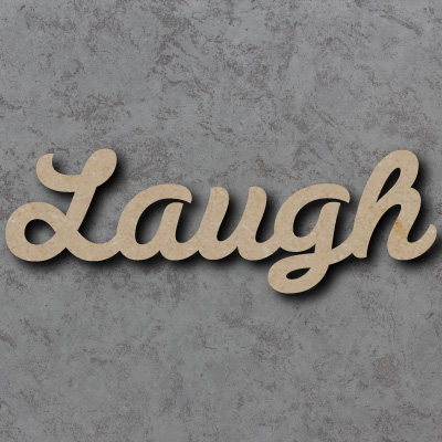 Laugh Script Font Wooden Words