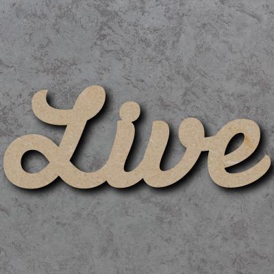Live Script Font Wooden Words
