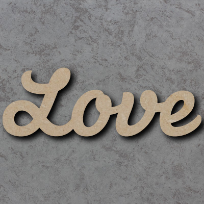 Love Script Font Wooden Words