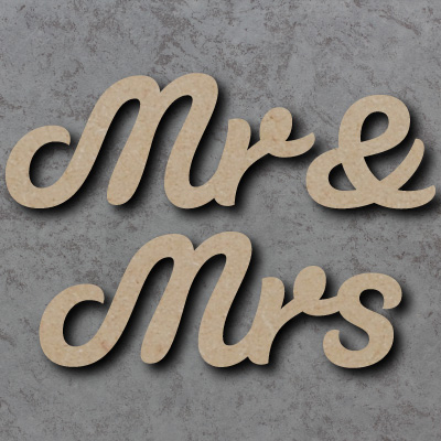 Mr & Mrs Script Font Wooden Words