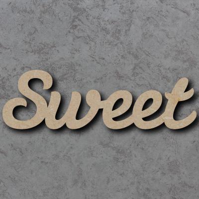 Sweet Script Font Wooden Words