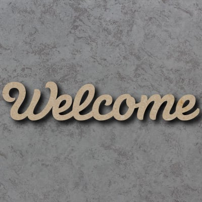 Welcome Script Font Wooden Words