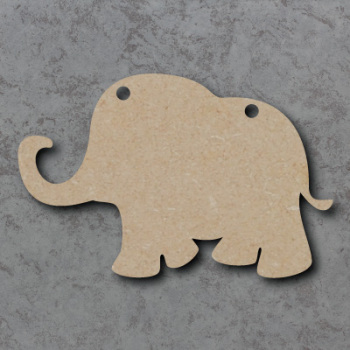 Elephant Bunting mdf Shapes