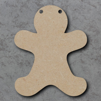 Gingerbread Man Bunting mdf Shapes