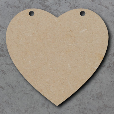 Heart Bunting mdf Shapes