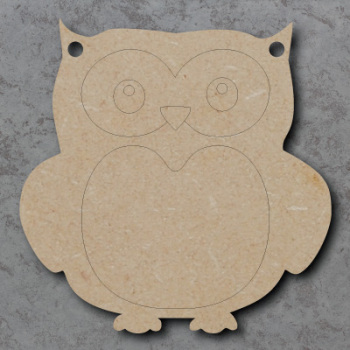 Owl Bunting mdf Shapes