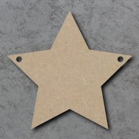Star Bunting mdf Shapes