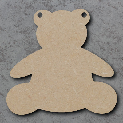 Teddy Bear Bunting mdf Shapes