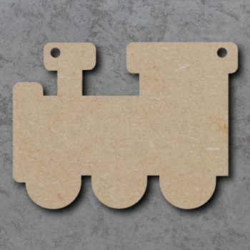 Train Bunting mdf Shapes