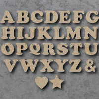 Letter Bunting Wooden Craft Shapes  **PRICE PER LETTER**