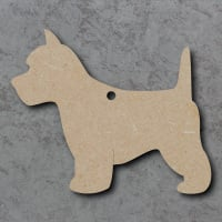 Dog 01 - (Westie) Blank Craft Shapes