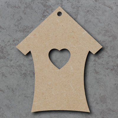 Heart House Wooden Craft Shapes