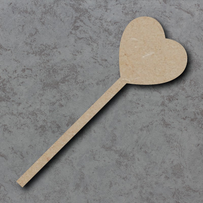Heart Wand Wooden mdf Craft Shapes