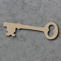 Key A - Mortice Lock Blank Craft Shapes