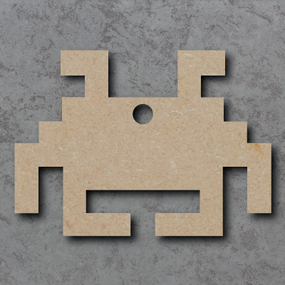 Space Invaders Wooden Craft Shapes