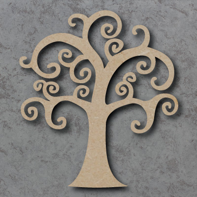 Curly Tree Craft Shapes