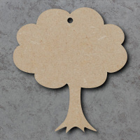 Tree Fluffy - Blank Craft Shapes
