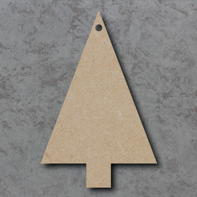 Tree - Triangle mdf Craft Shapes