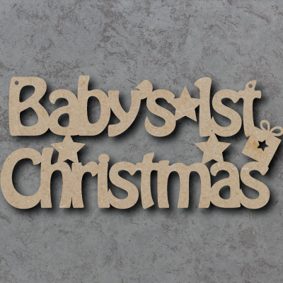 Babys First Christmas Craft Sign