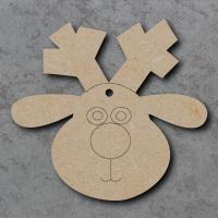 Reindeer Head 01 Craft Shapes