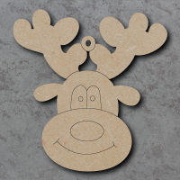 Reindeer Head 02 Detailed Craft Shapes