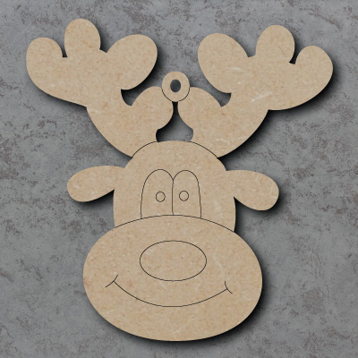 Reindeer Head Craft Shapes
