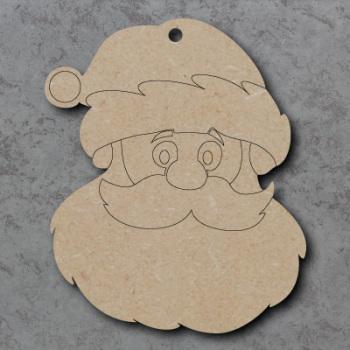 Santa Head Detailed Craft Shapes