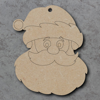 Santa Head mdf Shapes