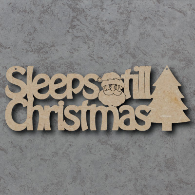 Sleeps tlil Christmas Craft Sign