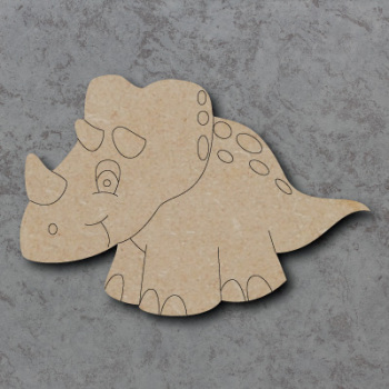 Dinosaur - Ceratops Craft Shapes