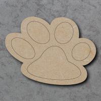Dog Paw Detailed Craft Shapes