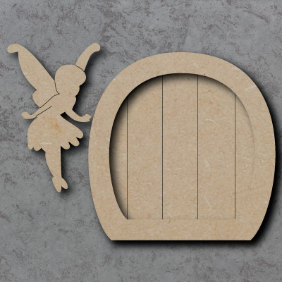 Fairy Door B - with Fairy Wooden Craft Shapes