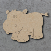 Hippo Detailed Craft Shapes