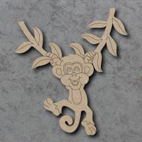 Monkey Detailed Craft Shapes