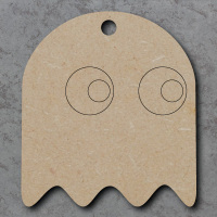 Pacman Ghost Detailed Craft Shapes