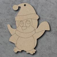 Penguin D Detailed Craft Shapes