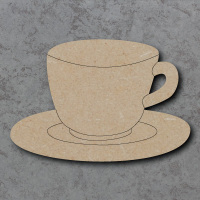Tea Cup Detailed Craft Shapes