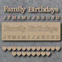 Family Birthdays Sign