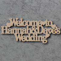 Personalised Welcome to the Wedding Craft Sign