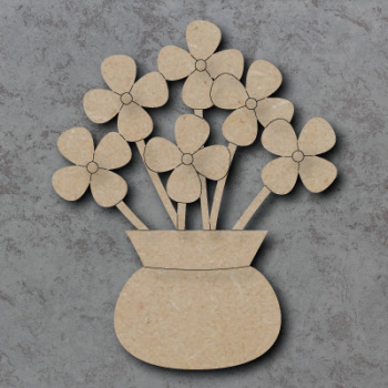 Vase and Flowers Craft Shapes