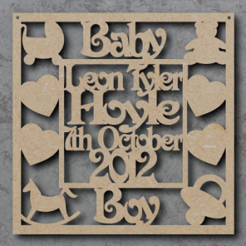Personalised Baby Boy Craft Sign