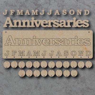 Anniversaries mdf Sign